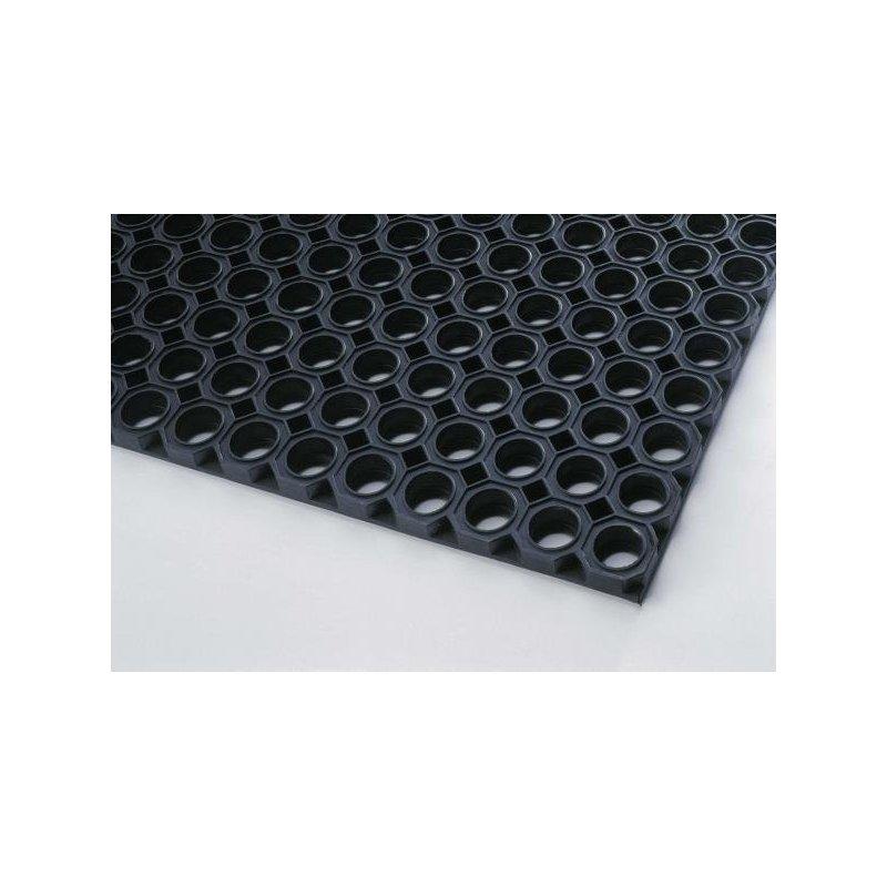 Mata wejściowa antypoślizgowa ażurowa Oct O Mat gumowa plaster miodu czarna różne wymiary