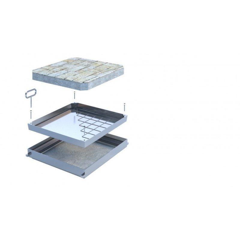 Właz rewizyjny aluminiowy Stahlo Deck