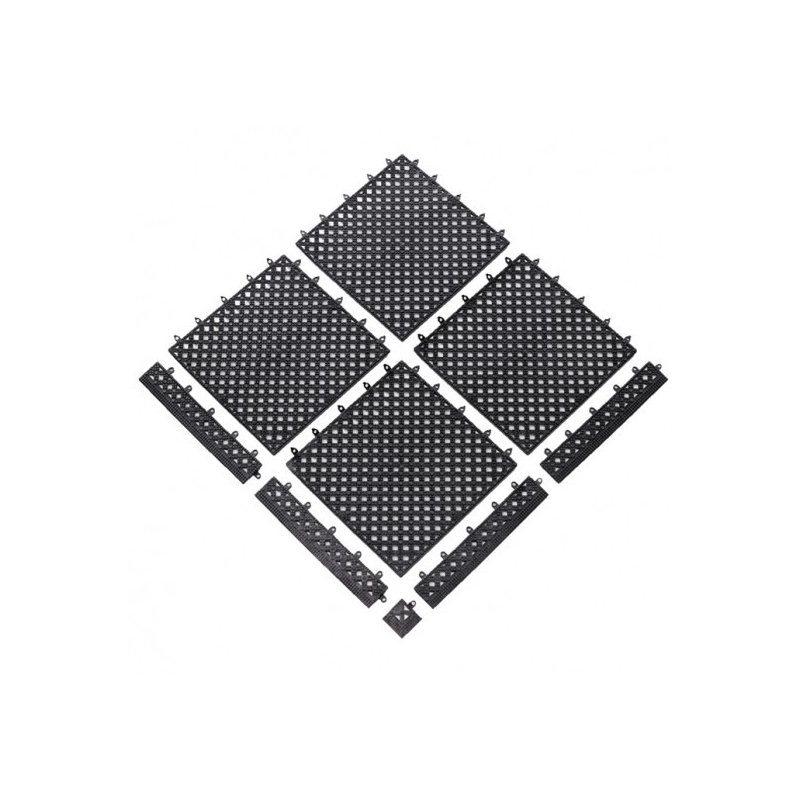 Mata higieniczna Modular Lok Tyle Black