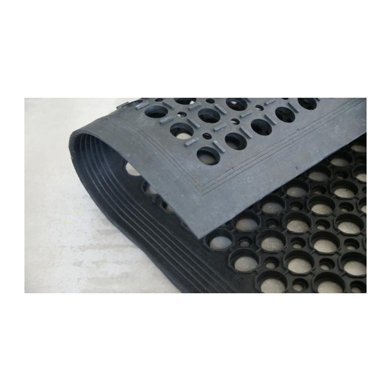Wycieraczka mata gumowa z najazdem 80x120 cm ażurowa