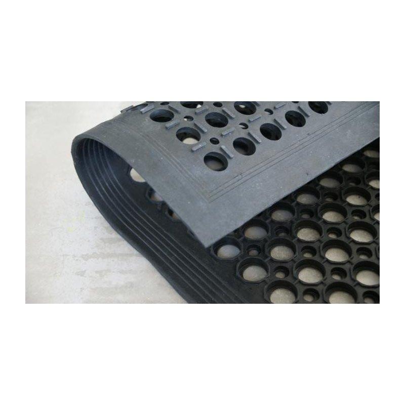 Wycieraczka mata gumowa ażurowa z najazdem 90x150 cm