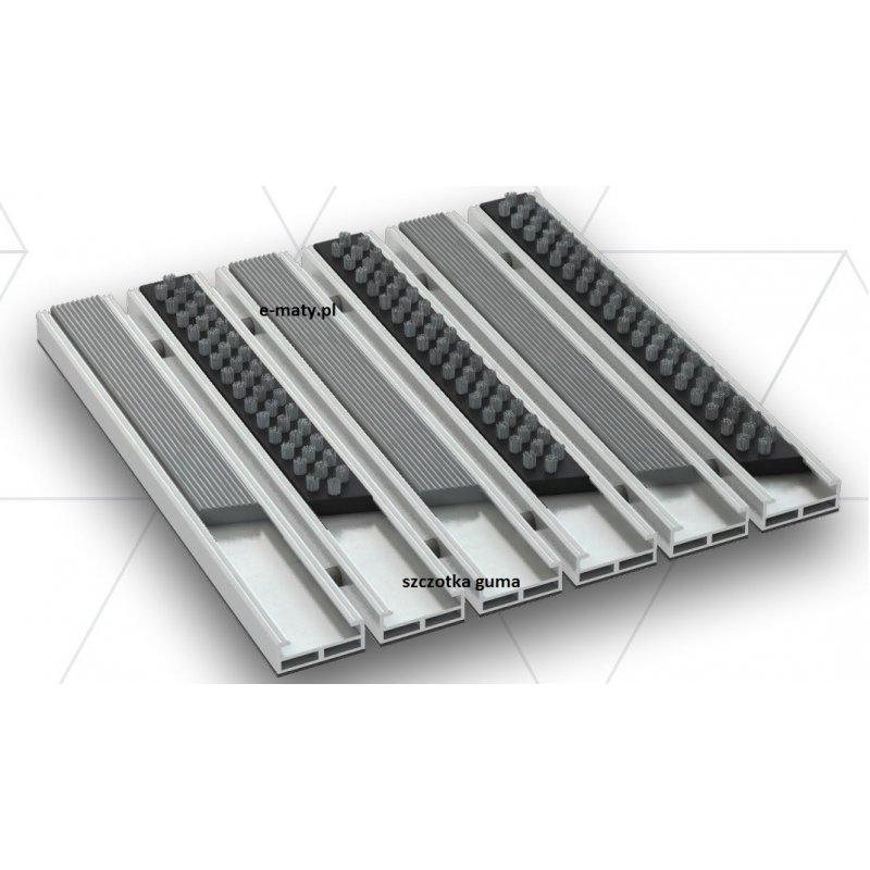 Wycieraczka aluminiowa Beta Gamma 12mm szczotka guma