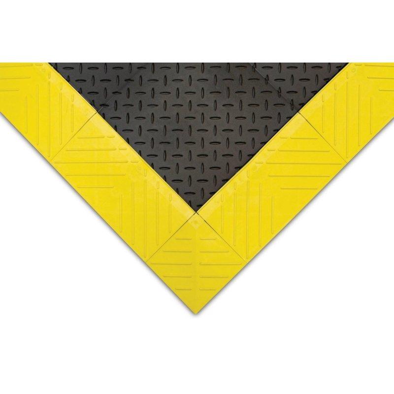 Mata stanowiskowa antypoślizgowa z listwami zółtymi do maty Diamond Flex Lok Solid