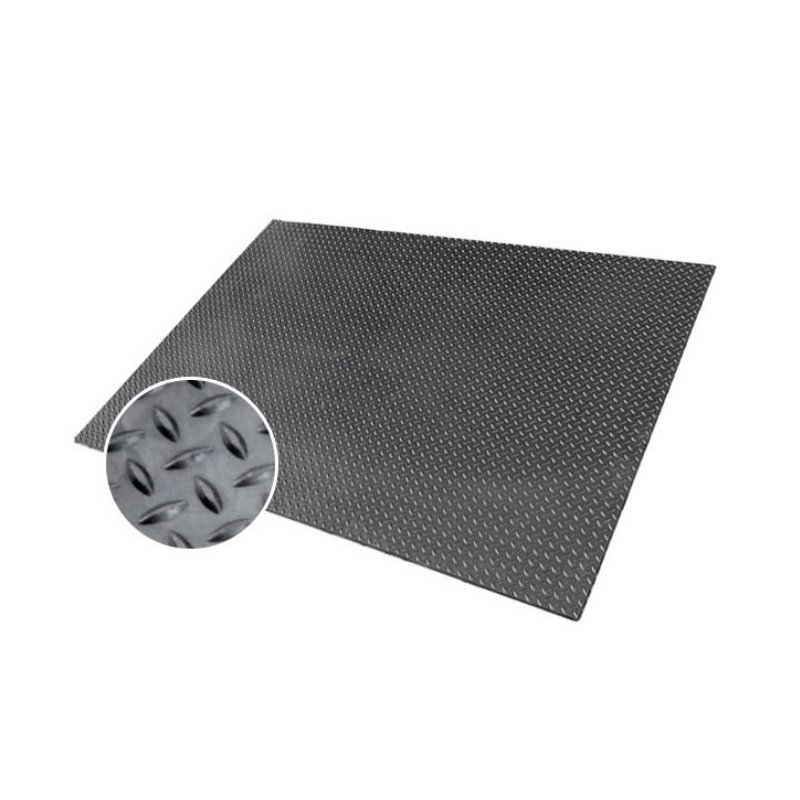 Industrial checkered rubber floor mat