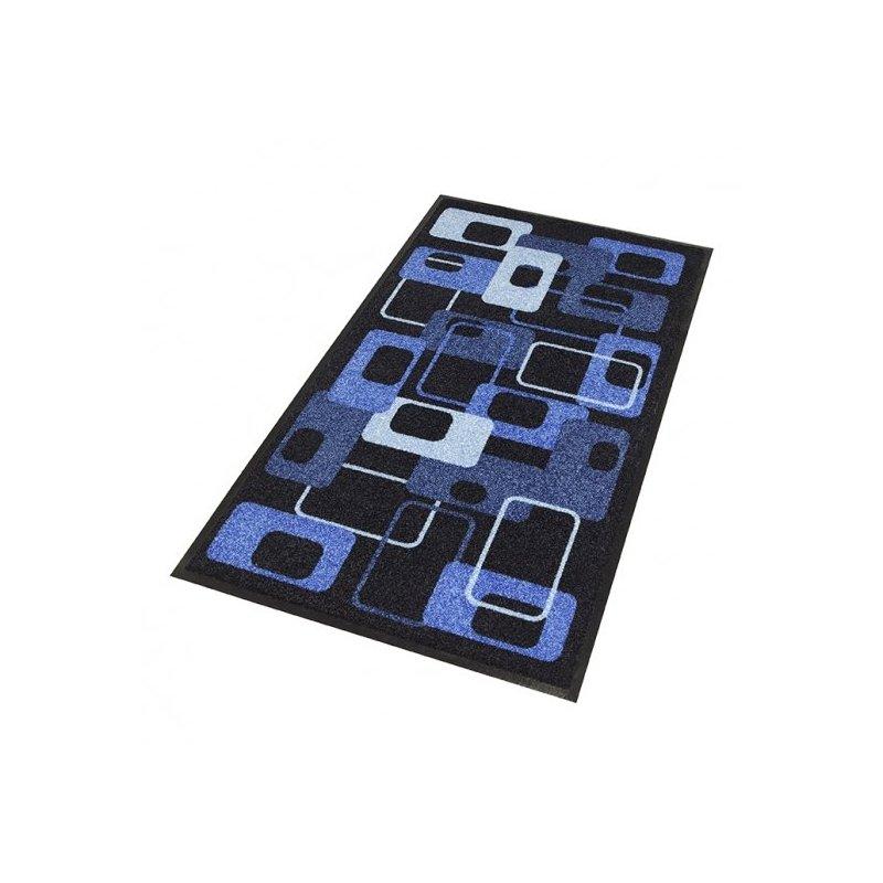Mata Deco Design Standard wzór Modern 70's niebieska