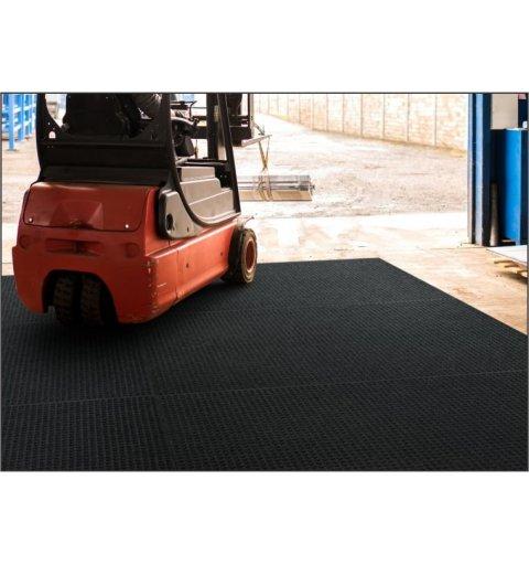 Mata wykładzina system do czyszczenia kół wózków