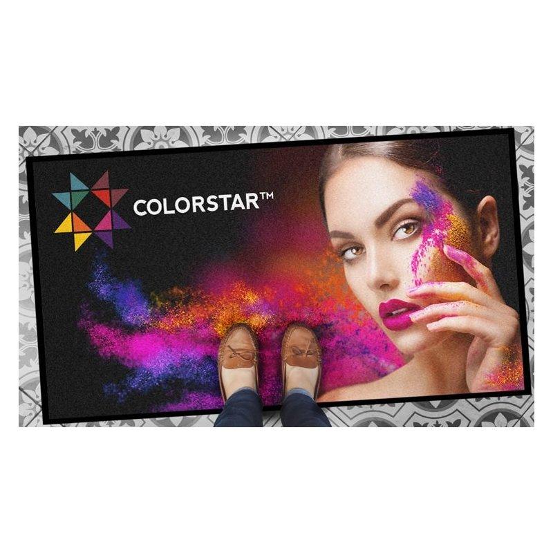 Matten met het door Colormark opgedrukte deurmatlogo