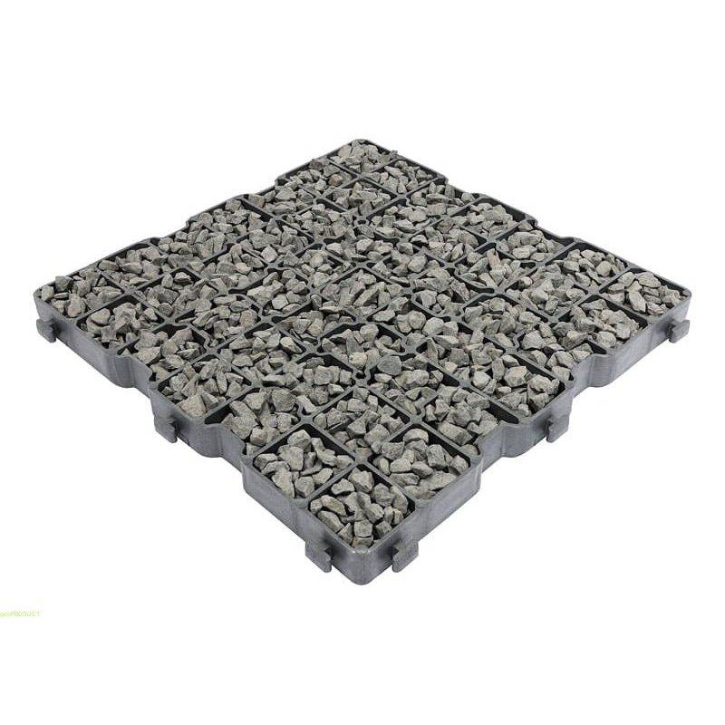 Kratka trawnikowa krata G3 max mocna kamień h 3 cm zdjęcie z wkładem z kamieni