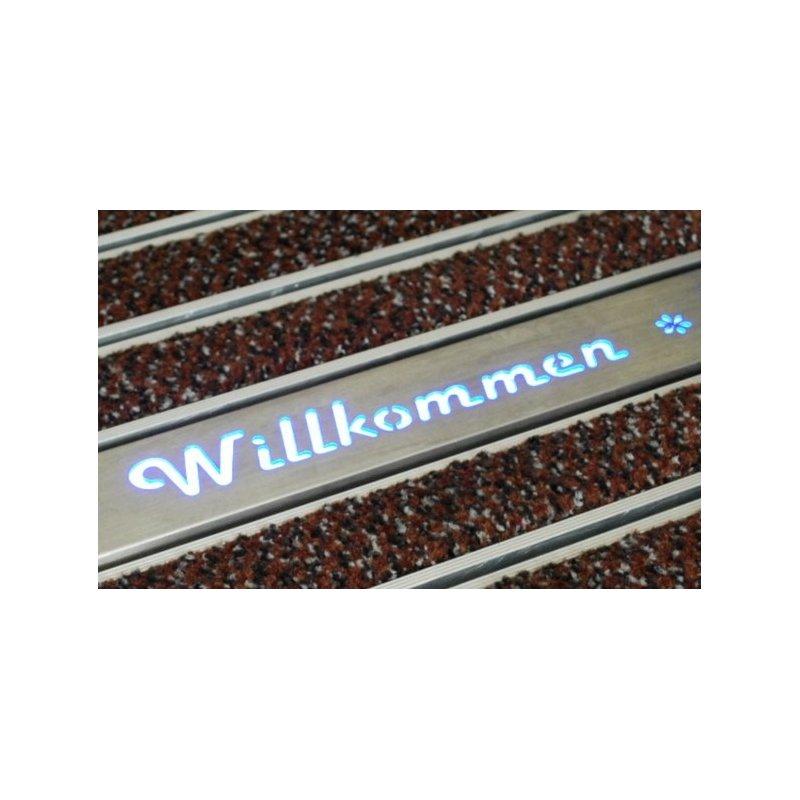 Profil podświetlany z dowolnym napisem logo do maty aluminiowej